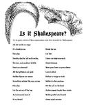 Shakespeare Idioms Activity