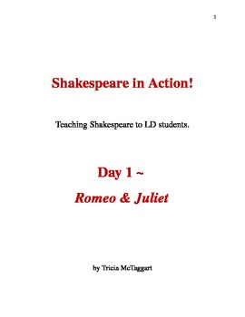 Shakespeare In Action Day 1 Romeo & Juliet