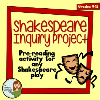 Shakespeare Inquiry Project - A Pre-Reading Activity