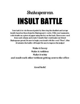Shakespeare Insult Battle