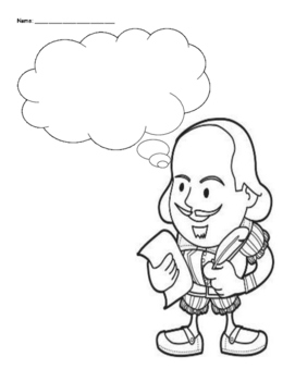 Shakespeare Insults with Coloring Page
