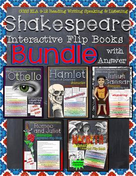 SHAKESPEARE READING LITERATURE GUIDE FLIP BOOKS BUNDLE