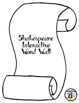 Shakespeare Interactive Word Wall