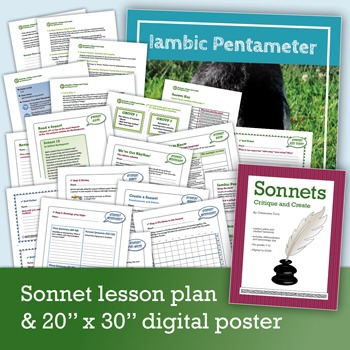 shakespeare intro set background research sonnets bundle by classroom core. Black Bedroom Furniture Sets. Home Design Ideas