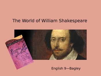 Shakespeare Introduction PPT