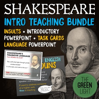 Shakespeare Introductory BUNDLE: Insults, PowerPoints, Task Cards