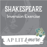 Shakespeare Inversion Exercise - Practical Introductory Exercise