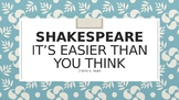 Shakespeare: It's Easier Than You Think (Part 5)