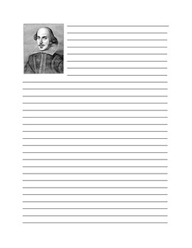 Shakespeare Journaling Page