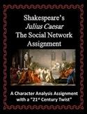 Shakespeare Julius Caesar Social Network Character Analysis Assignment