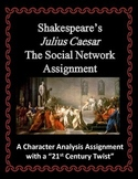 Shakespeare Julius Caesar Social Network Character Analysis Assignment
