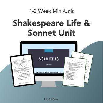 Shakespeare Life & Sonnet Unit Bundle