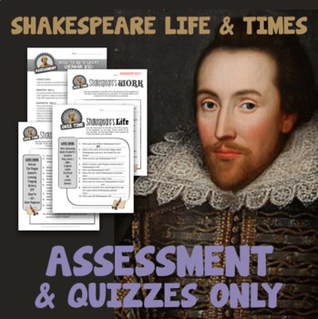 Shakespeare Life & Times - QUIZZES/ASSESSMENT only