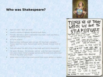 Shakespeare - Life and Times and The Elizabethan Theatre