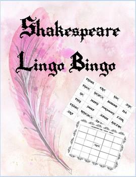 Shakespeare Lingo Bingo