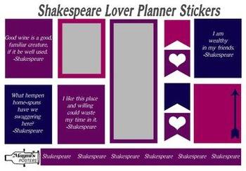 Shakespeare Lover Planner Stickers