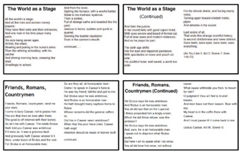 Shakespeare Memory Cards