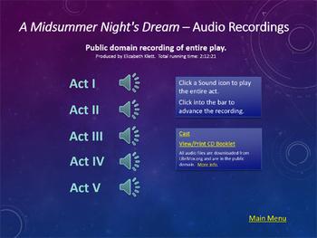 Shakespeare Midsummer Night's Dream PowerPoint Presentation
