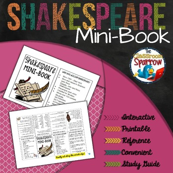 Shakespeare Mini-Book (A Perfect Addition to an ELA Interactive Notebook)