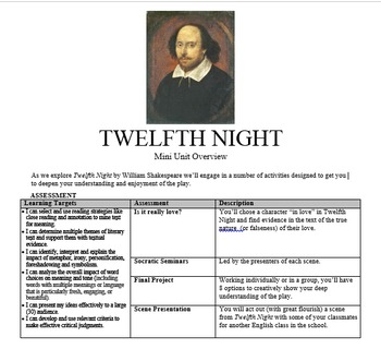 Shakespeare Mini Unit