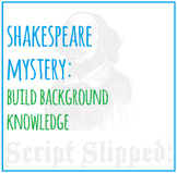 Shakespeare Mystery Game [engaging! fun! background knowledge!]