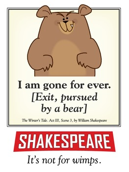 Shakespeare. Not for wimps. 18 x 24 printable poster.