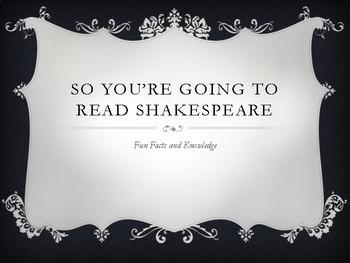 Shakespeare Pre-Read Scavenger Hunt/PP