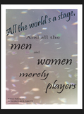 """Shakespeare Quote Poster Decor: """"All the World's a Stage.."""