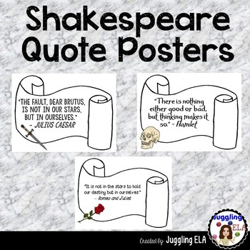 Shakespeare Quote Posters