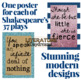 Shakespeare Classroom Decor Quote Posters