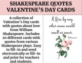 Shakespeare Quotes Valentine's Day Cards (GOOGLE SLIDES)