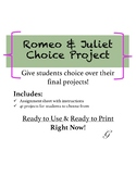 Shakespeare Romeo And Juliet Choice Project