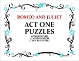Shakespeare Romeo and Juliet Act 1 Puzzles, Set of 3 with