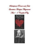 Shakespeare Romeo and Juliet Acts 1-5 Quotation Analysis A