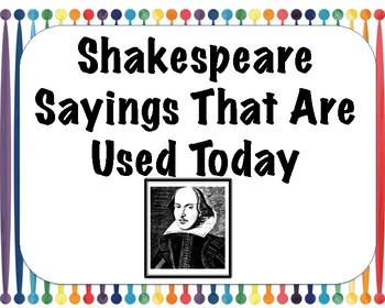 Shakespeare Sayings