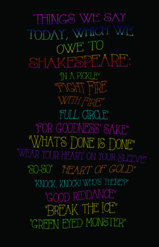 Shakespeare Sayings Poster