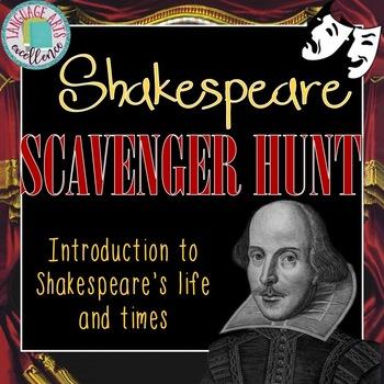 shakespeare scavenger hunt teaching resources teachers pay teachers