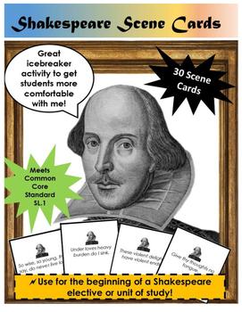 Shakespeare Scene Cards Icebreaker