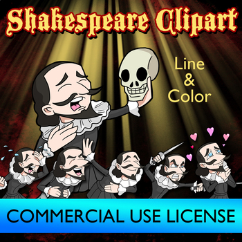 Shakespeare Secondary Clip Art Commercial Use License