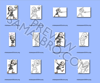 Shakespeare Secondary Clip Art Personal Use License