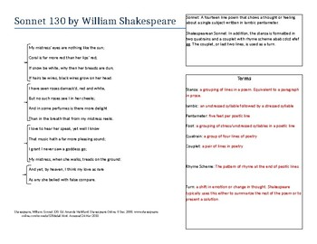 sonnet 130 figurative language