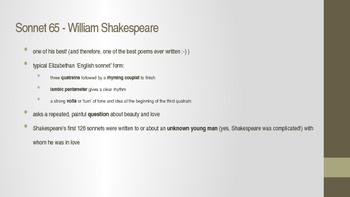 Shakespeare's Sonnet 65 - in-depth lesson
