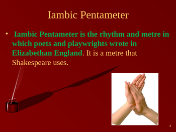 Shakespeare Sonnet Powerpoint