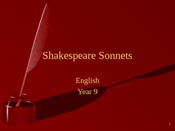 Shakespeare Sonnet Powerpoint