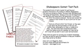 Shakespeare Sonnet Test Pack