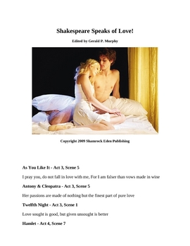 Shakespeare Speaks of Love