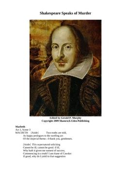 Shakespeare Speaks of Murder