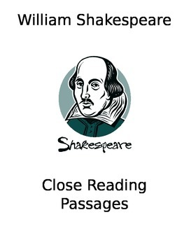 Shakespeare Speeches Close Reading Packet