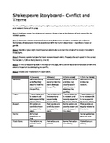 Shakespeare Storyboard Activity - conflict and theme