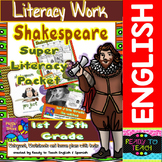 Shakespeare Super Literacy Packet for Elementary Level